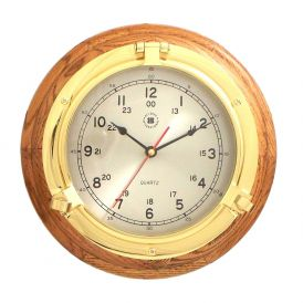 Porthole Quartz Clock