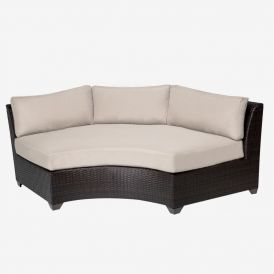 Barbados TKC020b Outdoor Wicker Curved Armless Sofa
