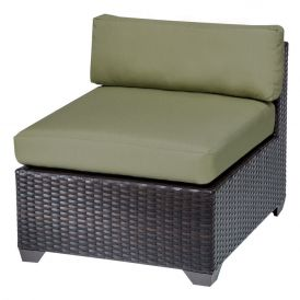 Belle TKC010b Outdoor Wicker Armless Sofa