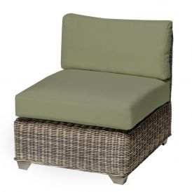 Cape Cod TKC030b Outdoor Wicker Armless Sofa