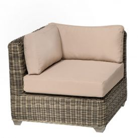 Cape Cod TKC030b Outdoor Wicker Corner Sofa