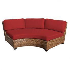 Laguna TKC025b Outdoor Wicker Curved Armless Sofa