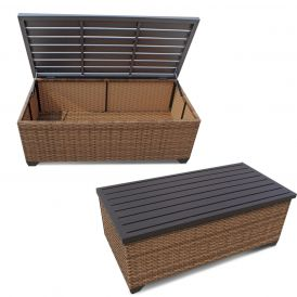 Laguna TKC025b Outdoor Wicker Storage Coffee Table