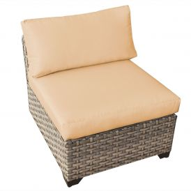 Monterey TKC015b Outdoor Wicker Armless Sofa