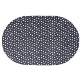 Ashton & Willow Multi Star Navy Oval Rug
