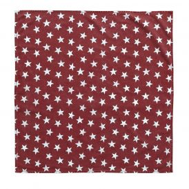 Nancy Nook Multi Star Red Table Topper