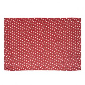Nancy Nook Multi Star Red Table Cloth