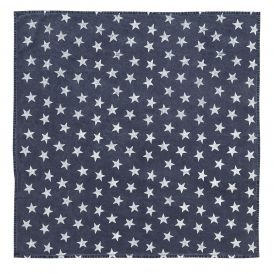 Nancy Nook Multi Star Navy Table Topper