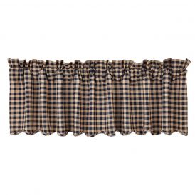 Nancys Nook Navy Check Valance
