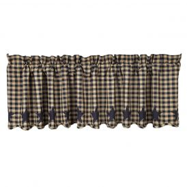 Nancys Nook Black Star Valance