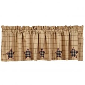 Nancys Nook Bingham Star Applique Valance
