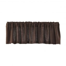 Nancys Nook Burlap Chocolate Valance