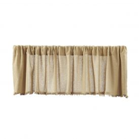 Nancys Nook Tobacco Cloth Khaki Valance