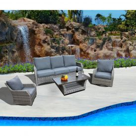 Carlyle 4-Piece White Label Deep Seating Set