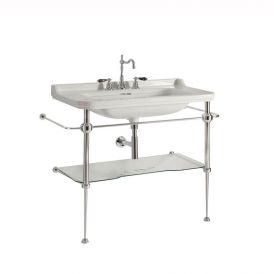 Waldorf 4142K1+9196K1 Bathroom Sink with Metal Stand 39.4""