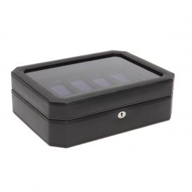 Windsor 10 Piece Watch Box in Black/Purple