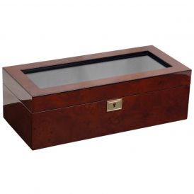 Savoy 5 Piece Watch Box in Burlwood