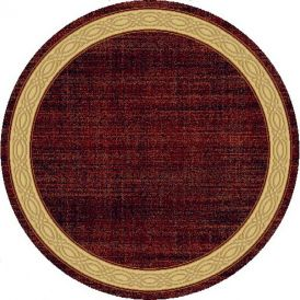 "Dynamic Rugs Yazd 1770-310 Red 63"" Round Rug"