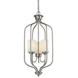 Cardinal 434 3-Light Brushed Nickel Pendant Light