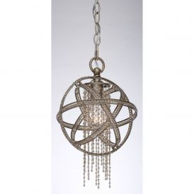 MP40011 Cascade Pendant Light in Burnished Silver Leaf